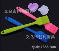 Wholesale hair gel brush for sale - Group buy Silica Gel One Trumpet Long Full Package Oil Barbecue Seasoning Brush Hair Sweep