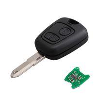 ingrosso auto di telecomando di colore rosa-433MHZ 2 pulsanti FOB per chiave a distanza NE73 per PEUGEOT 206 con chip transponder PCF7961