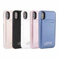 рок-телефон оптовых-Лучшие продажи портативный 4200 мАч Power Bank Case мобильный телефон внешний аккумулятор Case для iP 6 7 8 plus XR xs max сотовый телефон с пакетом