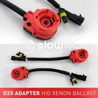 adaptador de xenon al por mayor-2 UNIDS D2 D2C D2S D2R Adaptador AMP Socket Cable Convertidor Cable de arnés XENON HID Bulb Adaptador de Base de Accesorios para Coche GLOWTEC