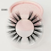 Wholesale factory making fake eyelashes resale online - Factory direct sale mink hair eyelashes Messy Cross Thick Natural lashes winged lashes Fake Eye Lash clear box private label