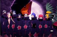 Wholesale naruto itachi cosplay online - 2019 Halloween Cosplay Naruto Akatsuki Orochimaru Uchiha Madara Sasuke Itachi Pein Clothes Costume Cloak Cape Wind Dust Coat
