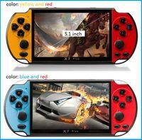 nes jogos mp4 player venda por atacado-X7 PLUS Handheld Game Player 5.1 Polegada Grande Tela PSP Consola de Jogos Portátil MP4 Player com Câmera TV Out TF Vídeo para GBA NES Jogo 8 GB