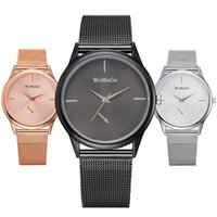 Wholesale metal mesh belt resale online - fashion simple design women ladies alloy metal mesh belts lady casual dress trend quartz wrist watches for women