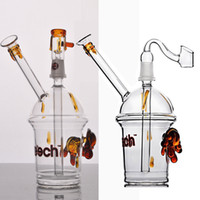 Wholesale Dab rig HITAMN CHEECH Glass Bong Concentrate Oil rigs Dabber Bubber Water Pipe With Dome Nail or glass banger mm joint
