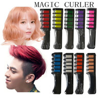 Wholesale salon hair dyes resale online - New Temporary Hair Chalk Hair Color Comb Dye Salon Party Fans Cosplay Tool Fashion Unisex Hair Color Combs
