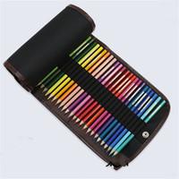 renkli kalem 36 toptan satış-Renk Kroki Kalemler Vaka 36 Adet Kalem Çantaları Yüksek Kaliteli Tuval Saklama Kalem Çantası Perde Öğrenciler Için 6 5jjH1