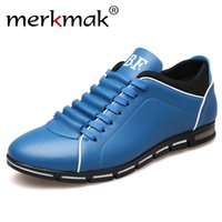 Wholesale dropshipping for shoes for sale - Group buy Merkmak Big Size Men Casual Shoes Fashion Leather Shoes for Men Summer Men s Flat Shoes Dropshipping T200108