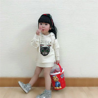 Wholesale high kids clothes resale online - Kids Clothing Family Matching Clothes Fashion Mommy And Me Matching Sweaters High Quality Cartoon Cute Cat Embroidery Hooded Sweatshirts G