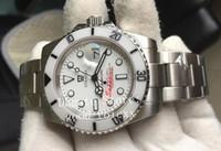 beyaz seramik otomatik erkek saatleri toptan satış-Yeni Stil Erkek Otomatik 2813 Safir Cam İzle Erkekler Bamford Beyaz Seramik Çerçeve Dalış Saatler Spor Tarihi Alt Perpetual 114060 Saatı