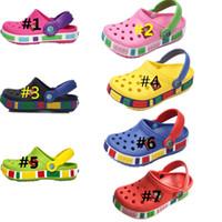 Wholesale cute slipper sandals resale online - Summer Children Cave Shoes Boys Girls Outdoor Beach Slippers Kids Soft Flip Flops Breathable Holes Light Toddler Cute Antiskid Sandals C7201