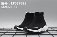 zapato de vestir para niños pequeños al por mayor-Zapatos baratos de marca Vestido de niño para niños Zapatillas de basketeball Suela verde neo + Deslizamiento de tela negra en zapatos Vestido de niña Diseñador Bebé Niño Niña Niños pequeños