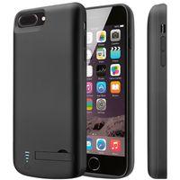iphone mais banco de poder venda por atacado-Bateria Externa Caso Voltar Power Bank Charger Capa de Backup Carregador de Bateria de Proteção Caso de Carregamento para iPhone 6/7/8 além de X / XR / XS / XS Max