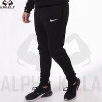 calça de jogger venda por atacado-Novo Homens Corredores Marca Calças masculinas moda Calça Casual Sweatpants Homens Gym Muscle Cotton Academia Workout hip hop calças elásticas