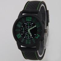 gt silikon quarzuhr großhandel-Fashion Military Silikon Herrenuhr GT Sportuhren Big Numeral Dial GT Herren Sport Quarzuhr Cool Men Wristwatch