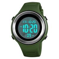 часы двойные цифровые часы оптовых-50 М Водонепроницаемый Открытый Спортивные Часы Армия Мужчины Цифровые Наручные Часы Подсветка Двойной Будильник Elogio Masculino