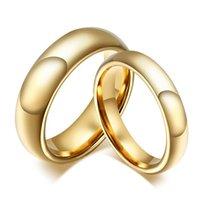 ingrosso anelli in carburo di tungsteno per le donne-20 pezzi di carburo di tungsteno anello d'oro per gli uomini le donne amanti della fascia nuziale alleanza nuziale set di gioielli coppie anello