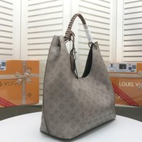 Wholesale lady gray handbags for sale - Group buy High Quality Handbag Gray Leather Large Capacity Printed Tote Letter Pendant Women S Brand Handbags Large Capacity Ladies Clutch Ab