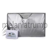 Wholesale far blanket resale online - Model Zone FIR Sauna FAR INFRARED BODY SLIMMING SAUNA BLANKET heating therapy Slim Bag SPA WEIGHT LOSS body detox machine DHL Free