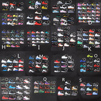 Wholesale basketball keychains charms resale online - Sneaker Keychains Cute mini Silicone AJ keychain basketball shoes backpack pendant keyring creative gift force shoes keychain toys