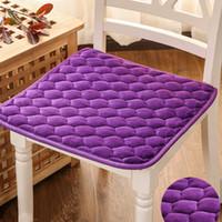 Wholesale dining car resale online - 50 cm Plush Chair Cushion Non slip High quality Seat Cushion Decorative Pillows for Home Dining Chair Car Seat Cushion
