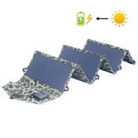Wholesale 5v solar panel charger for sale - Group buy Solar Charger W Portable Solar Panel Battery Chargers V A V Charging for Mobile Phones Tablet Laptop power bank battery