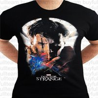 ingrosso strane camicie-Maniche corte nera Dottor Strange Movie Poster Eye Avengers Cumberbatch Marvel Mens Tops Moda girocollo T-shirt Taglia S M L XL 2XL 3XL