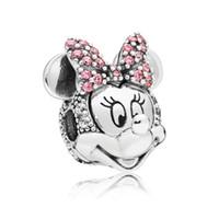 bezaubert clip perlen großhandel-100% 925 Sterling Silber Schimmernde MM Portrait Clip Charm Bead Für Europäische Pandora Schmuck Charm Armbänder