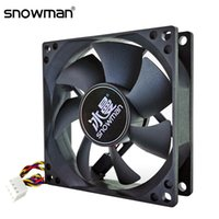 Wholesale fan case 8cm for sale - Group buy Computer Office SNOWMAN mm Pin PWM Computer Case Silent CM CPU Cooling Fan Quiet PC Cooler Fan