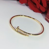 Wholesale bangle resale online - S925 sterling silver Screw nails classic Bracelet Gold Bracelets Punk for Women Best gift Luxurious Superior quality jewelry brands Bangle