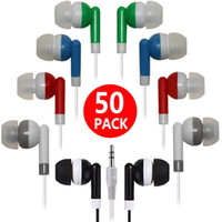 auriculares mp3 mp4 auriculares de alta calidad al por mayor-Alta calidad 100 UNIDS / LOTE Desechable Negro Auriculares In-Ear Auriculares para iPhone 4 5 6 Auriculares MP3 MP4 3.5mm Audio DHL Gratis