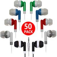 kulaklık mp3 mp4 kulaklık yüksek kalite toptan satış-Yüksek kalite 100 ADET / GRUP Tek Kullanımlık Siyah Renkli Kulak Kulakiçi Kulaklık IPhone 4 5 6 Kulaklık MP3 MP4 3.5mm Ses DHL Ücretsiz