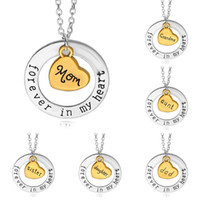 Wholesale forever jewelry for sale - Group buy Fashion Live Love dream Necklace Jewelry Mother s Day Pendant Choker letter Forever in Heart Mom Clavicle Chain Heart shaped Pendants C6204