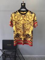 rei do leão camiseta venda por atacado-2019SS anjo Novo algodão europeu e americano dos homens coroa leão T-shirt, dos homens de manga curta rei T-shirt NAVIO GRÁTIS 368
