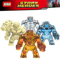 brinquedos marvel ironman venda por atacado-blocos de construção único Marvel Avengers Hellfire Elementais Zephyr Hydron Sandman tamanho Big Thanos IronMan Kid Toys