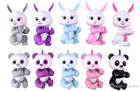 Wholesale rabbit electronics for sale - Group buy Newest Finger Panda the Unicorn Sloth Rabbit Finger Electronic Smart Touch Fingers Interactive Monkey Finger Toy With Retail Package
