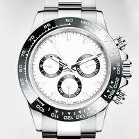 dalış kronografı toptan satış-Lüks erkek izle paslanmaz çelik kayış otomatik mekanik İzle safir su geçirmez dalış izle chronograph