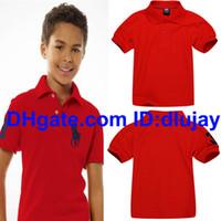 15 yaşında bir kız toptan satış-1-15 yıl! Yepyeni Çocuk Polo Tişörtlü Klasik Yaka Çocuk Polo Kısa kollu t shirt Erkek Giyim Kız Pamuk Tees Tops