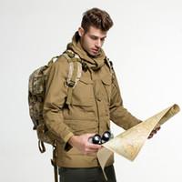 vestuário militar para homens venda por atacado-Casaco Ao Ar Livre À Prova D 'Água SoftShell Jaqueta de Caça Blusão para Trekking camping homens de pesca Roupas Táticas Militares