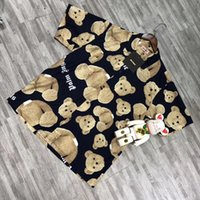 volle brüste großhandel-2019 Palm Angels Shirt Lässige Turn-Down-Kragen Full Print Gute Qualität Baumwolle Einreiher Kurzarm Palm Angels Shirt
