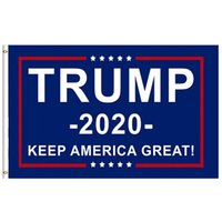 pancarta de ojales al por mayor-Bandera de alta calidad Donald Trump 2020 Bandera de eslogan de apoyo Mantenga a Estados Unidos Grandes banderas con ojales de latón para presidente Banner 8 estilos M527F