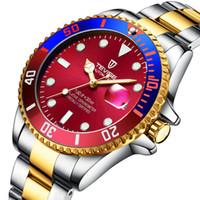 ingrosso tevise orologio meccanico-2019 Tevise Brand Men Watch Automatic Role Date Fashion Luxury Orologio in acciaio inossidabile Orologio meccanico Relogio Masculino regalo
