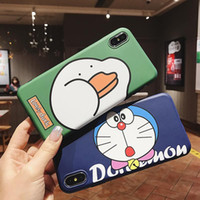 Wholesale iphone cases doraemon online - Cartoon mobile phone case for iphone x XR plus plus Colour printing Doraemon Mobile phone protective case