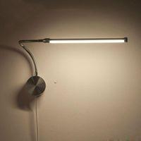 amerikan iç aydınlatmaları toptan satış-6 W LED Duvar aplikleri Avrupa Fiş Ile Lambalar / Amerikan Fiş Kapalı Yatak Başucu Lambası Çalışma Okuma Aydınlatma AC90-260V