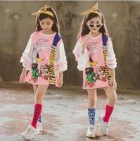 Wholesale 5 Y Kids Girls Dresses summer girls casual gauze shoulderless short sleeved dress For girls party clothes