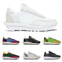 zapatos con cordones bordados chinos al por mayor-2020 Nike X Sacai LDV Waffle Daybreak Trainers Zapatillas de deporte para hombre para mujer Diseñador de moda Breathe Tripe S Sports Running Shoes Tamaño Eur36-45