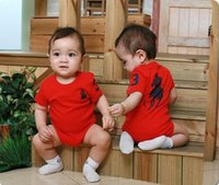 Wholesale super clothes resale online - Super Cute Baby Triangle Cotton Polo One Pieces Clothes Unisex Short Sleeve Romper Spring Summer