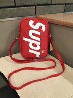радужная косметика оптовых-Радуга панк мягкая коробка кошелек сумка через плечо натуральная кожа косметические лоскут цепи сумка плечо сумки Сумка для фотоаппарата бесплатная доставка