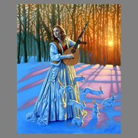 Wholesale Michael Cheval Sunset in the woods girls and rabbits Home Modern Abstract Canvas HD Print Canvas Modern Decoration Wall Art Framed Unframed