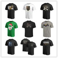 ingrosso pullover sport di marca-T-shirt da uomo Golden Knights di marca T-shirt Maglie da hockey Maglia sportiva nera da uomo all'aperto Tuta manica corta T-shirt stampate loghi